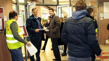 ver.di WDR verteilt Flugblätter
