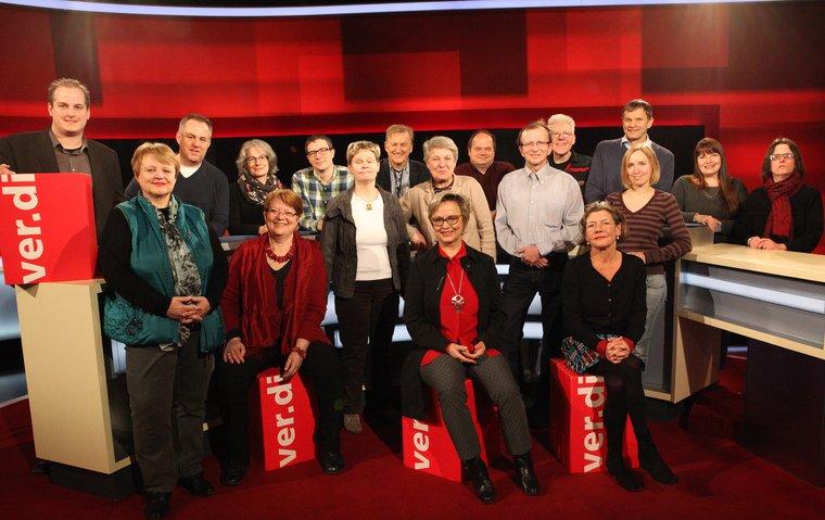 Gruppenbilld ver.di Personalratsliste WDR
