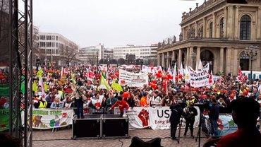 Streikdemo in Hannover 12 4 2018