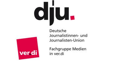 Logo der dju und der Fachgruppe Medien in ver.di