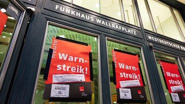 Warnstreik, Streik, Aufruf, WDR, Beitragsservice, Köln